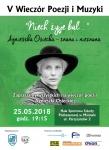 Zapraszamy na wieczór poświęcony twórczości Agnieszki Osieckiej.
